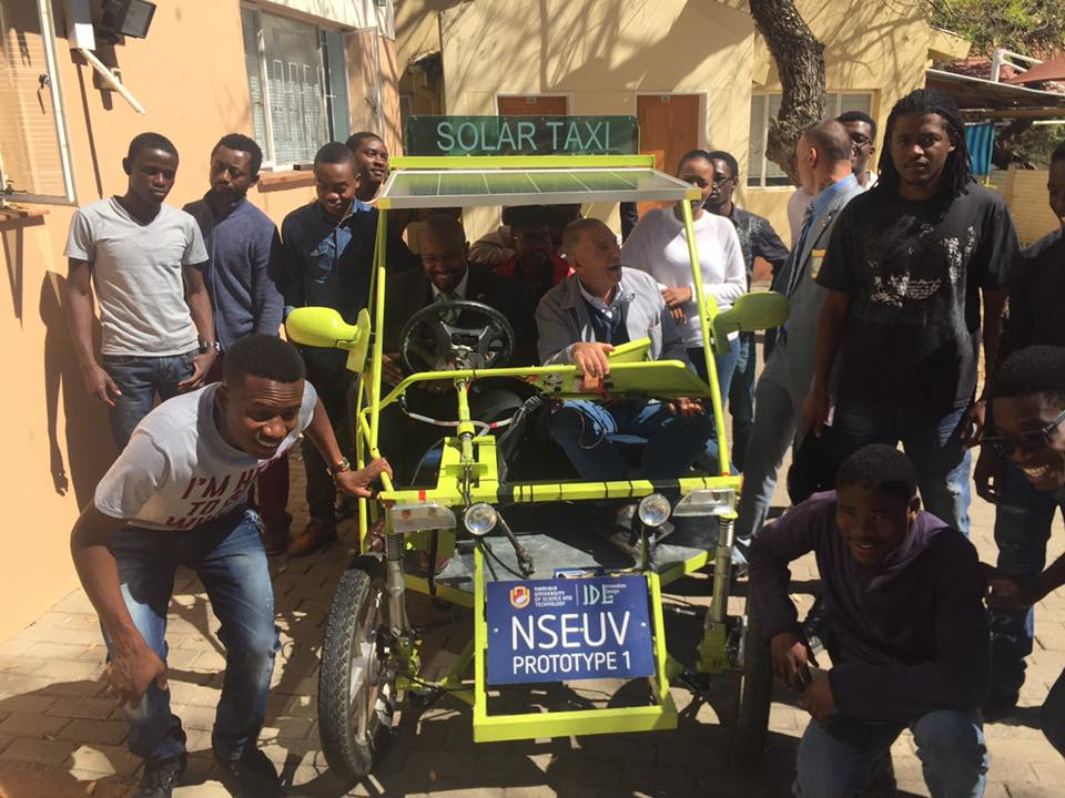 Progress Namibia - Our NUST has built the first Namibian Solar Taxi