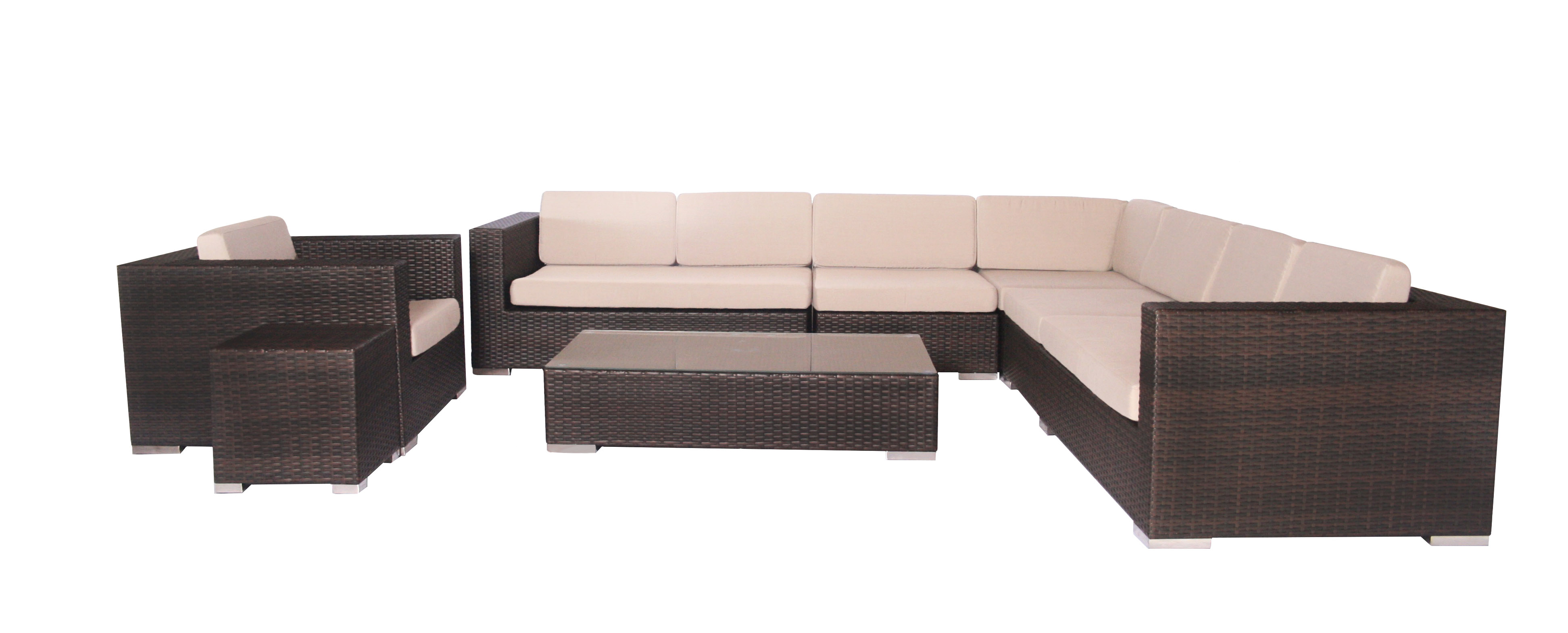 Pavel Lounge Suite brown