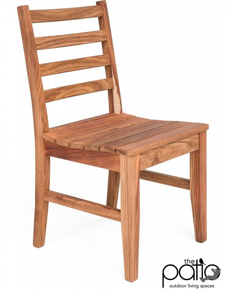 Kiaat Patio Side Chair
