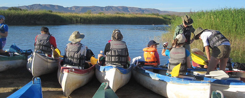 Canoo trip on the Orange River, Gr. 10